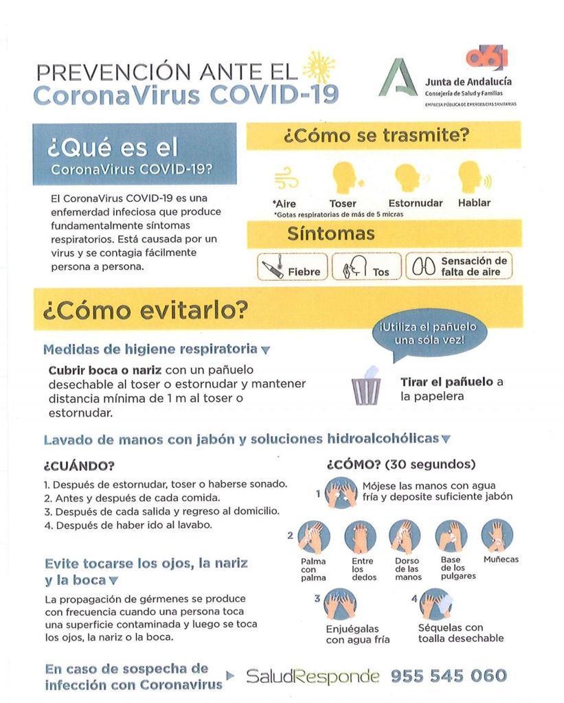 Prevención Ante el CoronaVirus Covid-19